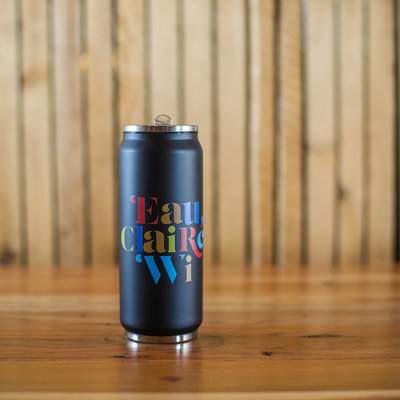 Volume One Can Stainless Tumbler - Matte Black, Colorful
