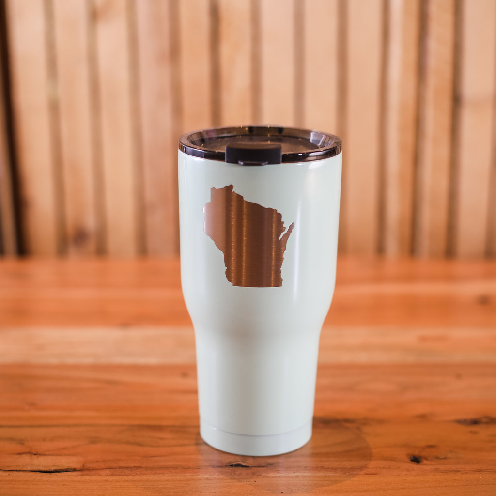 Iverson Custom Coatings Wisconsin Tumbler - Mint w/out Star