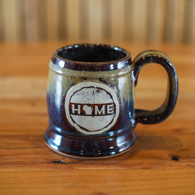 Volume One Stoneware - WI Home Barrel Mug - Root Beer Float