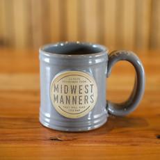 Volume One Stoneware Grey Midwest Manners Mug