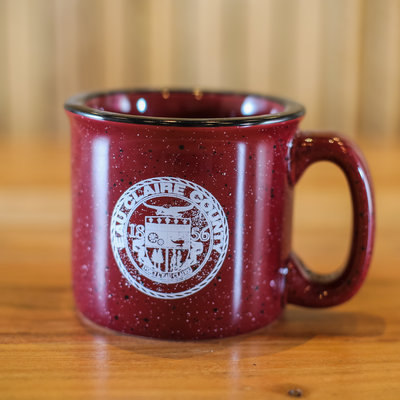 Volume One Camping Mug - Eau Claire County , Burgundy