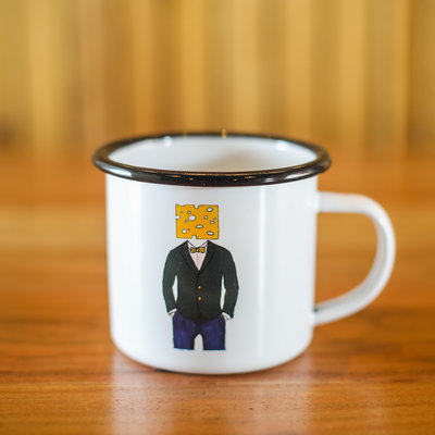 Volume One Enamel Mug - Cheese Head