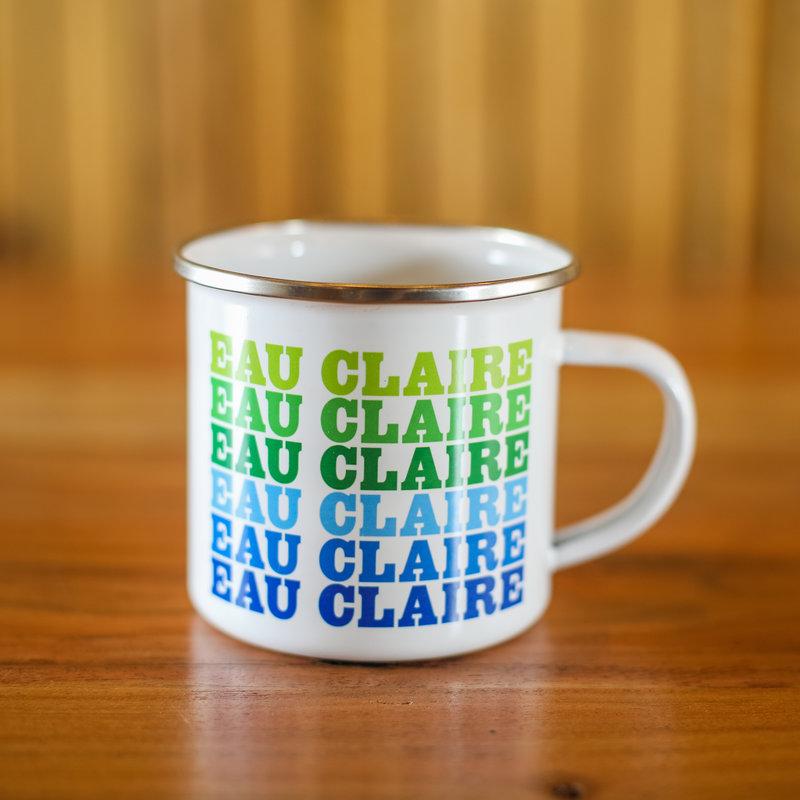 Volume One Enamel Mug - Eau Claire (Blue & Green)