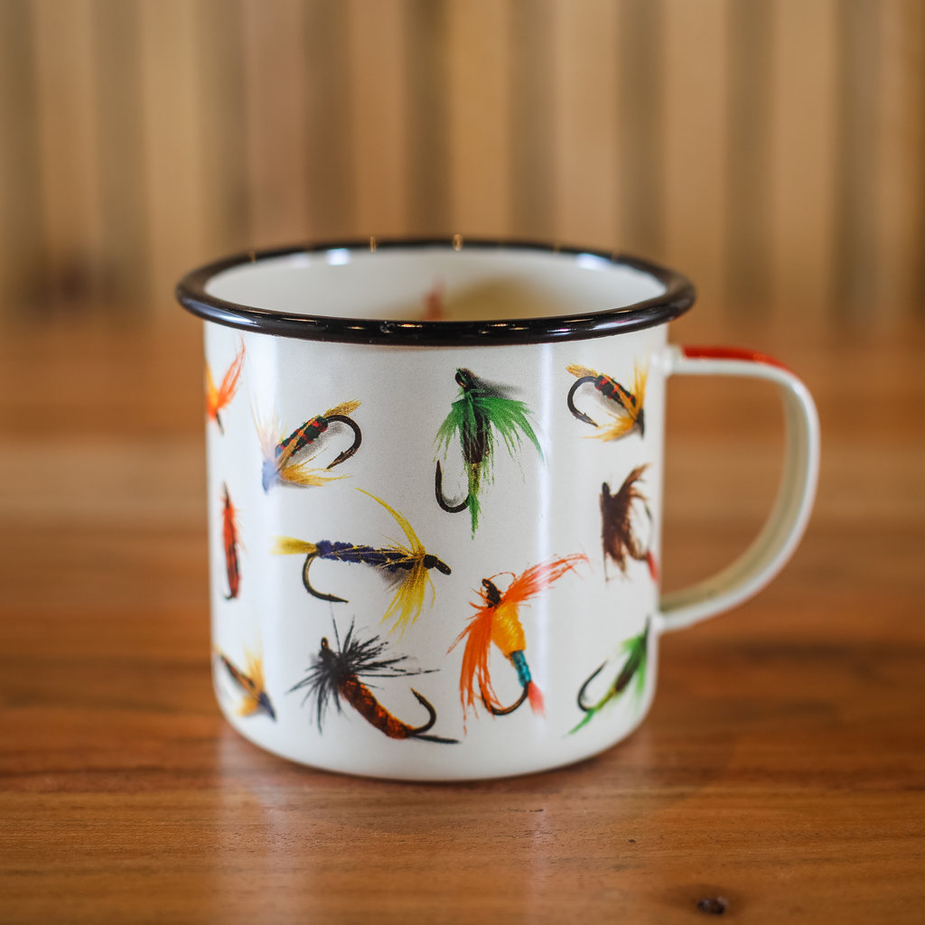 Volume One Enamel Mug - Fishing Flies
