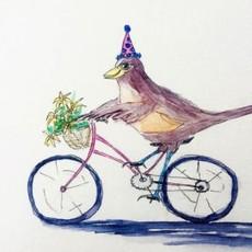 Amy Beidleman Happy Bird-day Greeting Card