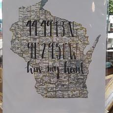 Jenna Krosch Eau Claire Map Coordinate Print (8x10)
