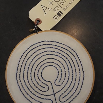 A & CO SLS Labyrinth Embroidery Hoop - Large