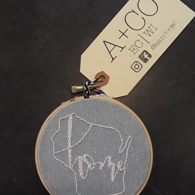 A & CO WI Home Embroidery Hoop (Small)