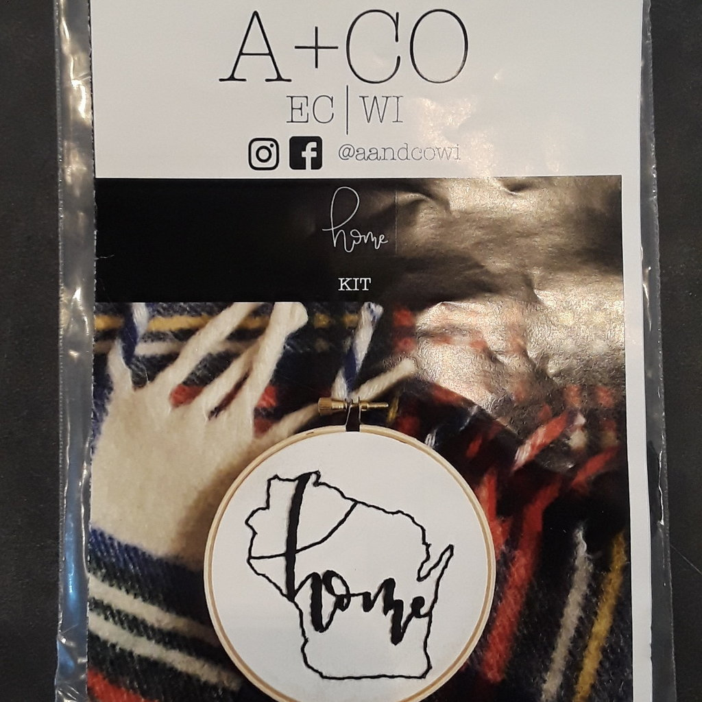 A & CO WI Home Embroidery Kit