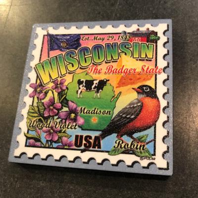 Volume One WI Stamp Artwood Magnet