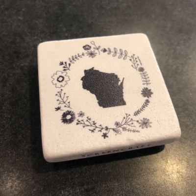 Volume One Marble Magnet - Wisconsin Flower