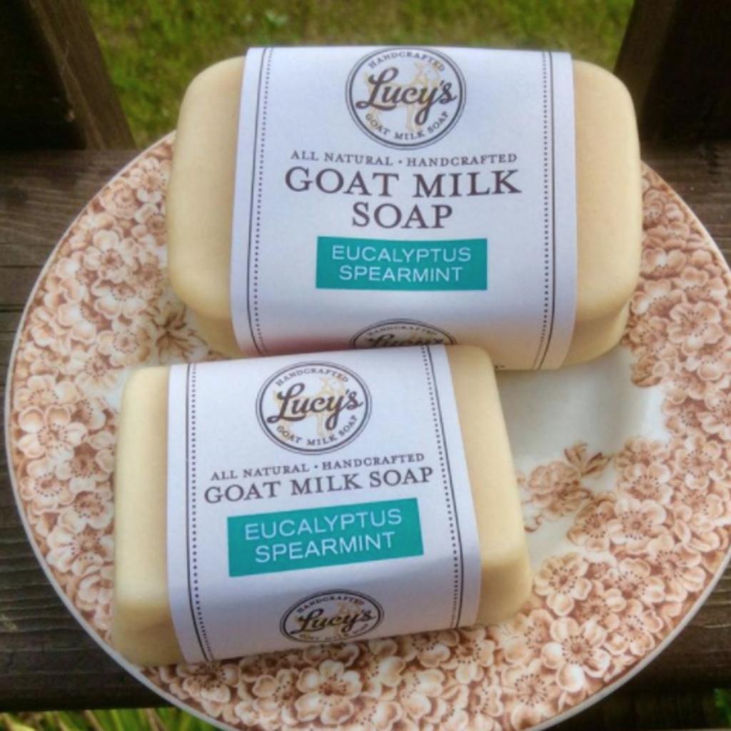 Lucy's Goat Milk Soap Lucy's Goat Milk Soap - Eucalyptus Spearmint Bath Bar