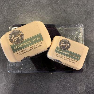 Lucy's Goat Milk Soap Lucy's Goat Milk Soap - Cedarwood Atlas Handbar