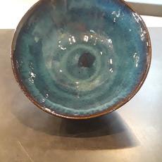 Dancing Cat Arts (Pottery) Medium Bowl (Pottery) - Deep Sea Blue