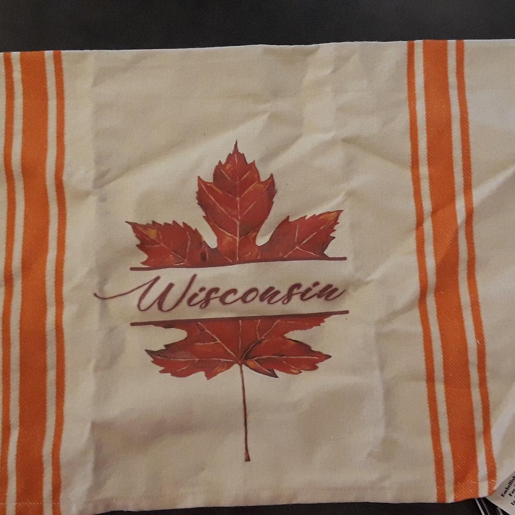 Volume One Wisconsin Leaf Kitchen Towel