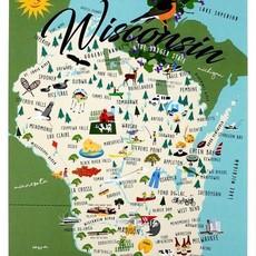 Volume One Whimsical Wisconsin Print - 12X18