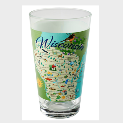 Volume One Pint Glass - Whimsical Wisconsin