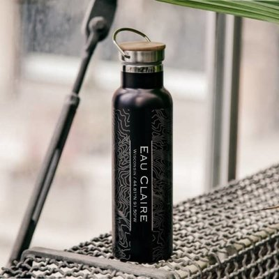 Volume One Eau Claire Map Bottle (Matte Black)