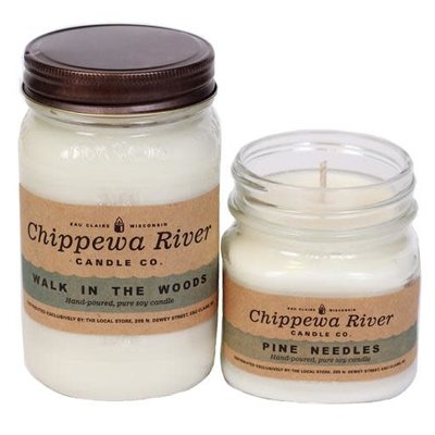 Chippewa River Candle Co. Candy Cane Small Mason Jar Candle 8 oz
