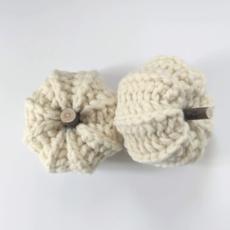 LameMaker Crochet Pumpkins (White)