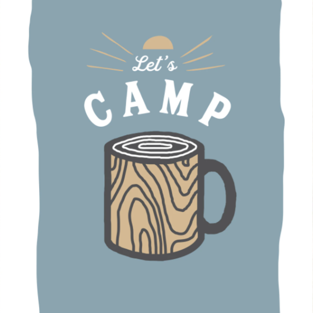 The Social Department Let's Camp Print - 13X19
