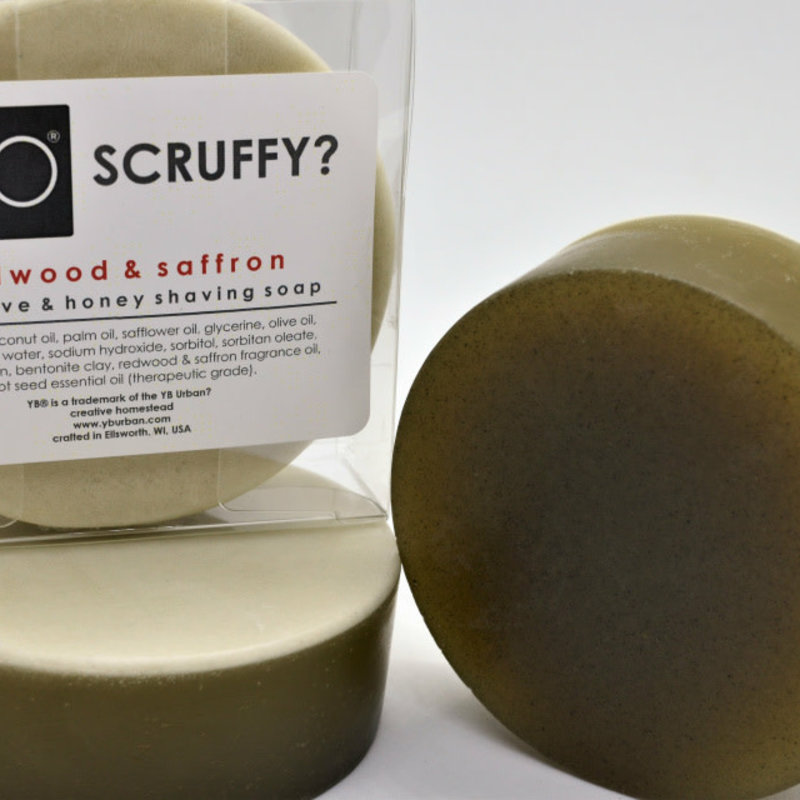 YB Urban? Creative Homestead YB Scruffy - Redwood & Saffron Beard Shave Soap
