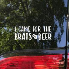 Vinyl Decal - Brats & Beer