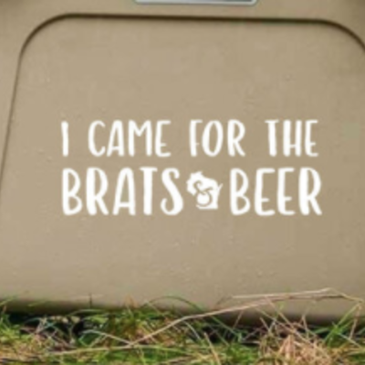 Vinyl Decal - Brats & Beer