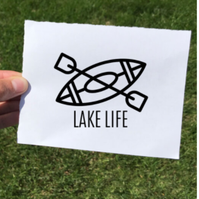 Vinyl Decal - Lake Life Kayak