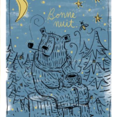 Bear Bonne Nuit Print (11x14)