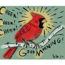 Cardinal Cheer in the Morning (11x14)