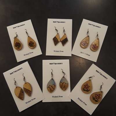 Wisco Cheer Northwoods Earrings - Assorted