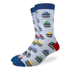 Good Luck Sock Crew Socks - Curling Stones