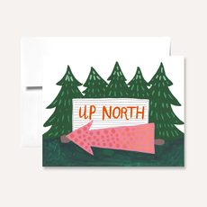 Persika Design Greeting Card - Up North