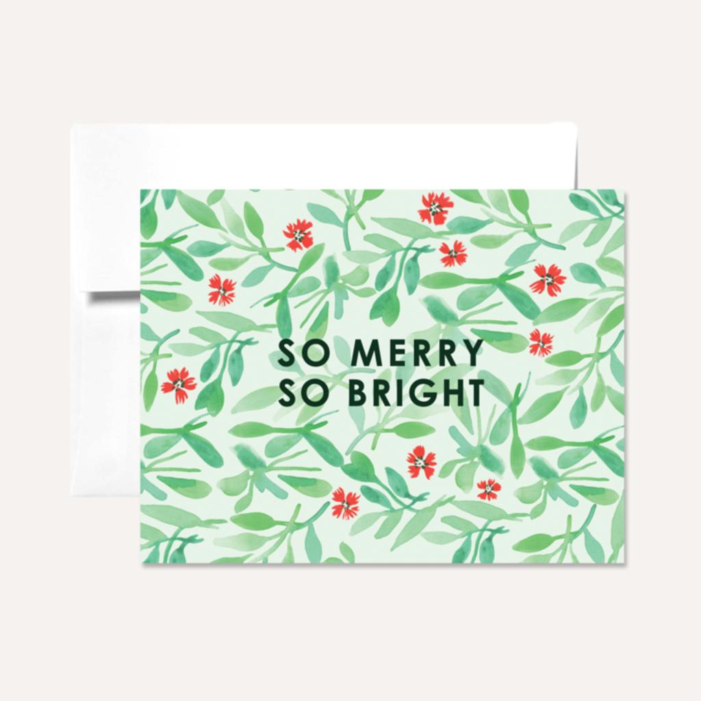 Persika Design Greeting Card - Merry & Bright