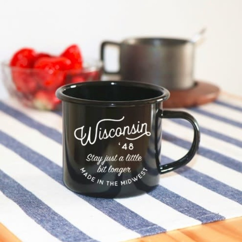 Wisconsin Enamel Camping Mug (Stay)