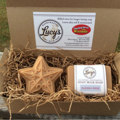 Lucy's Goat Milk Soap Lucy's Goat Milk Soap - Star & Handbar Boxed Set