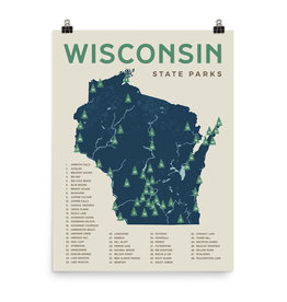 Forward Apparel Company Wisconsin State Parks Poster (18x24)