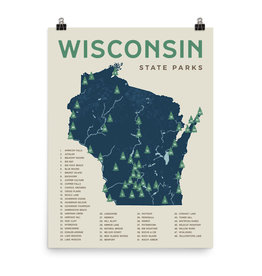 Forward Apparel Company Wisconsin State Parks Poster (8x10)