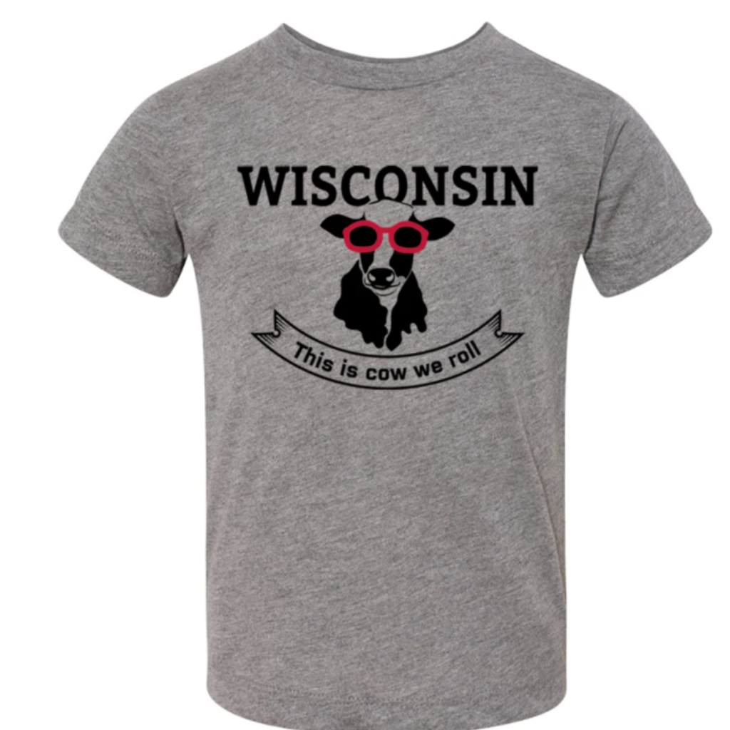 Giltee MKE Youth Triblend Tee - Wisconsin: Cow We Roll