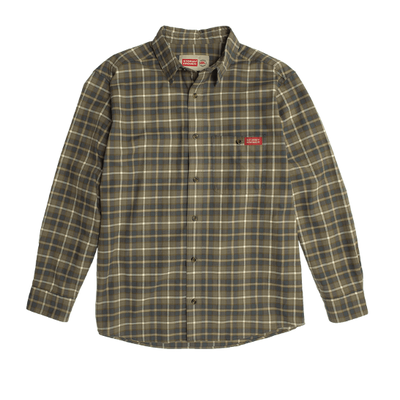 Stormy Kromer The Flannel Shirt - Bungee Cord (Green)