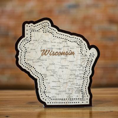 Volume One Cribbage Board - Wisconsin