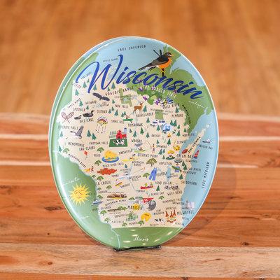 Volume One Melamine Platter - Whimsical Wisconsin