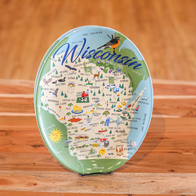 Volume One Melamine Platter - Whimsical Wisconsin