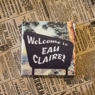 Volume One Marble Coaster - Welcome To Eau Claire