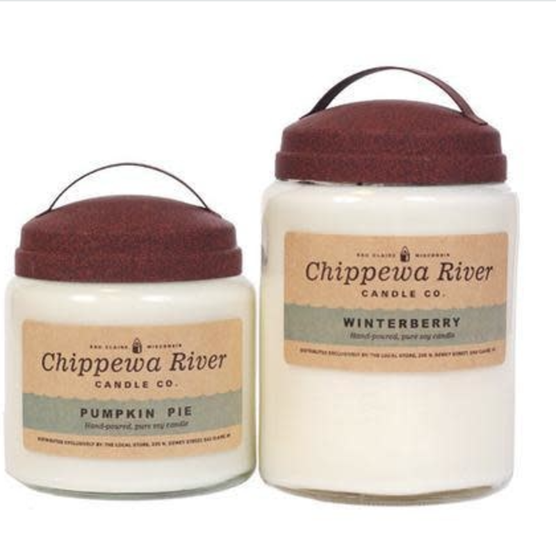 Chippewa River Candle Co. Apple Cider Large Apothecary Jar Candle 28 oz