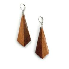 Large Geometric Wood Earrings
