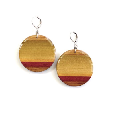 Jumbo Circle Wood Earrings