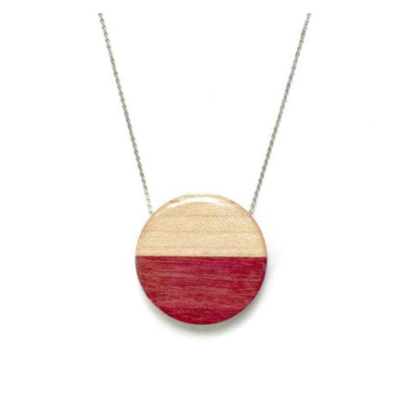 Jumbo Circle Reclaimed Wood Necklace