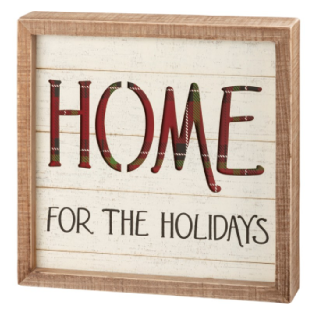 Volume One Box Sign - Home For The Holidays